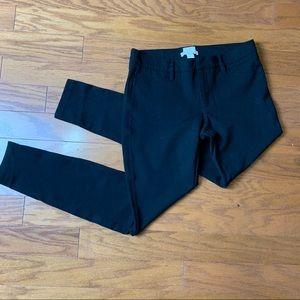 J.Crew Gigi Black Stretch Pant size 6